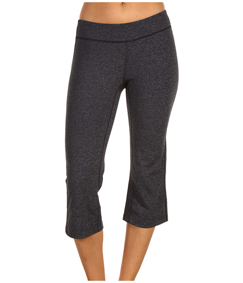 Lucy - Lotus Power Capri (Asphalt Heather/Lucy Black) Women