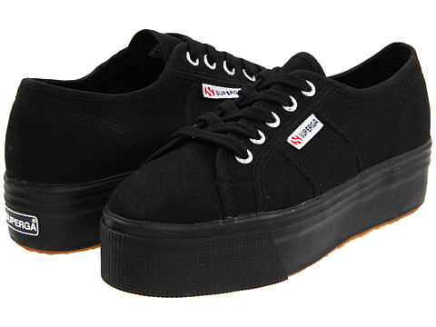 Superga - 2790 ACOTW Linea Up and Down (Full Black) Women's Lace up casual Shoes
