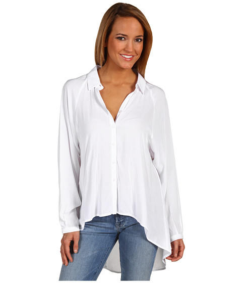 BCBGeneration - Back Cut Out Shirt (White) Women