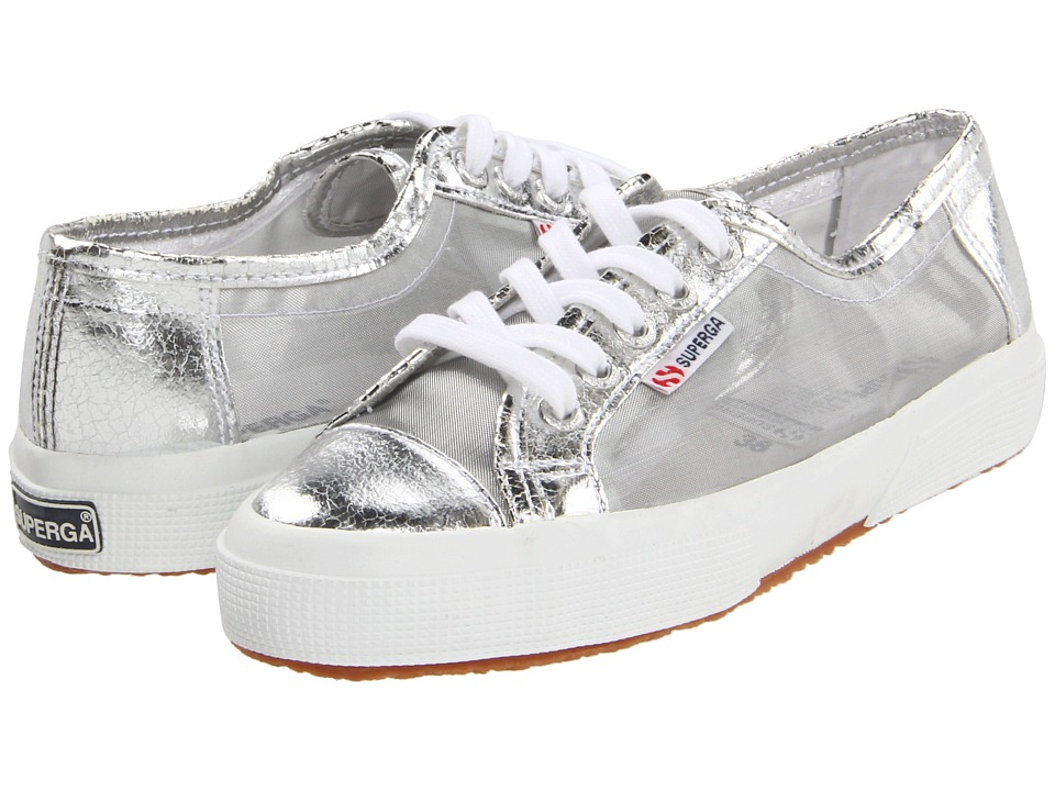 Superga - 2750 NETU (Silver) Women's Lace up casual Shoes