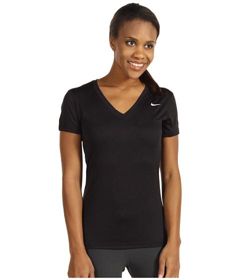 Nike - Regular Legend Short-Sleeve V-Neck (Black/White) Women