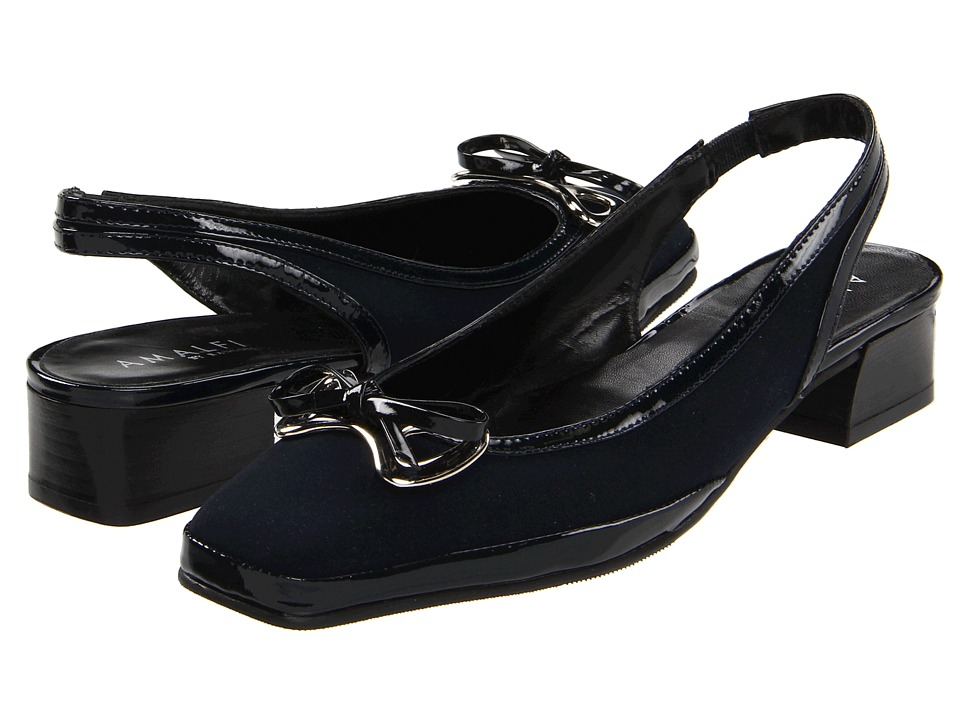 Amalfi by Rangoni - Mela (Navy Peach w/ Patent) Women's Dress Flat Shoes