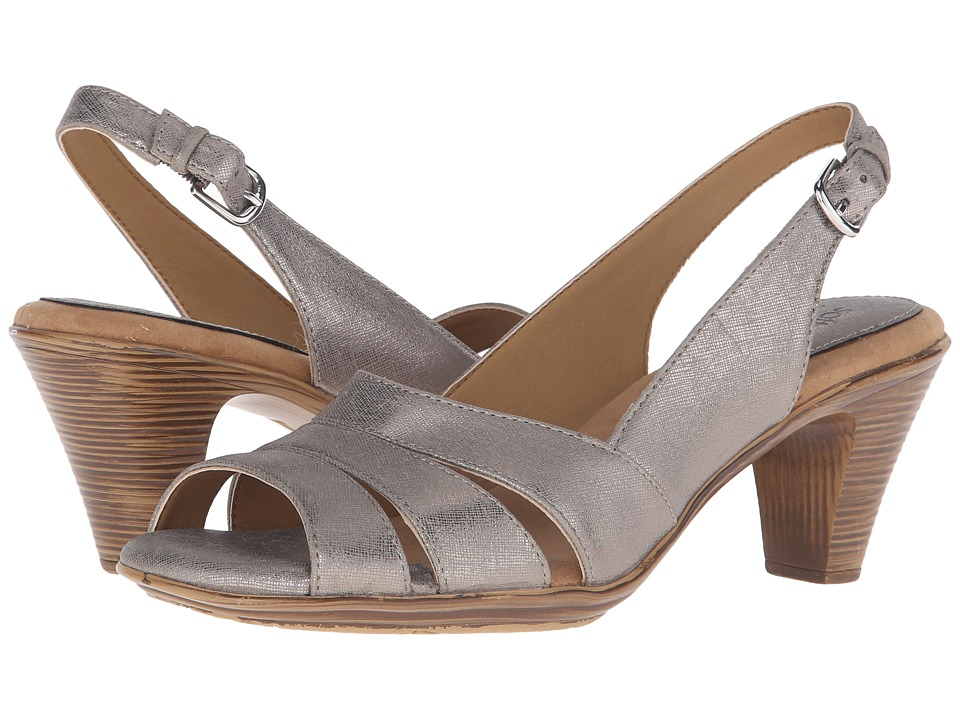 Comfortiva - Neima - Soft Spots (Anthracite Foil Goat) Women's Dress Sandals