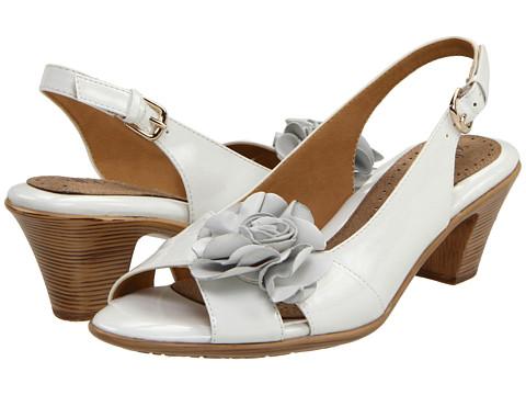 Softspots Adia (White Patent) Women's Toe Open Shoes