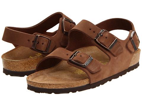 Birkenstock - Milano - Nubuck (Unisex) (Cocoa Nubuck) Sandals