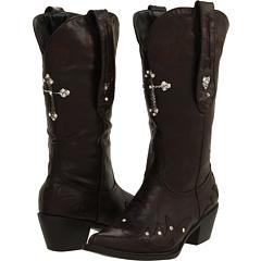 Roper Glitter Cross Boot (Brown) Footwear