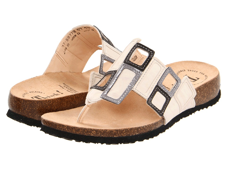 Think! - Julia Window Thong - 88779 (Shell/Kombi) Women's Sandals