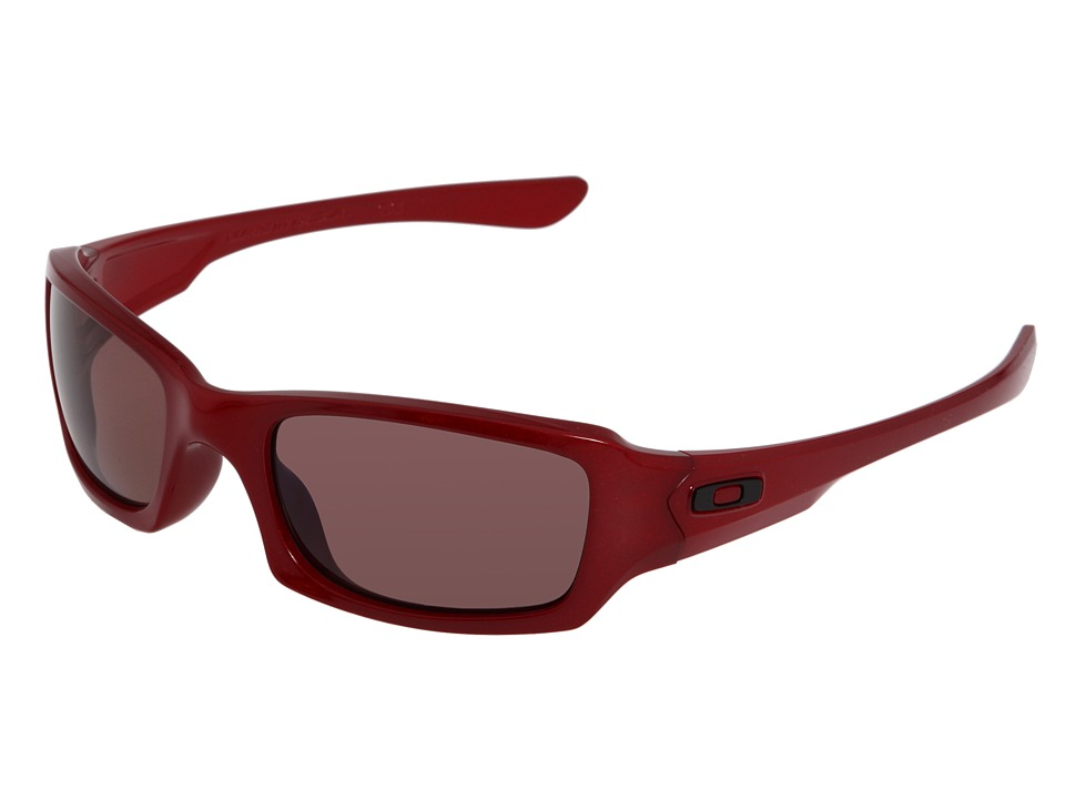 Oakley - Fives Squared Polarized (Metallic Red/Grey Polarized) Sport Sunglasses