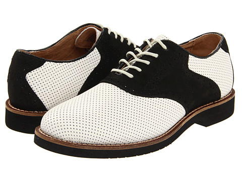 Bass - Burlington (White Perfed/Black) Men
