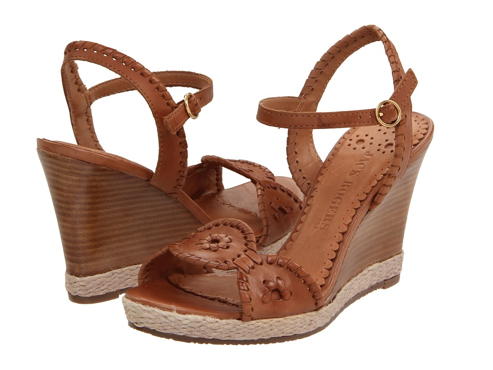 Jack Rogers - Clare Rope Wedge (Cognac) Women's Wedge Shoes