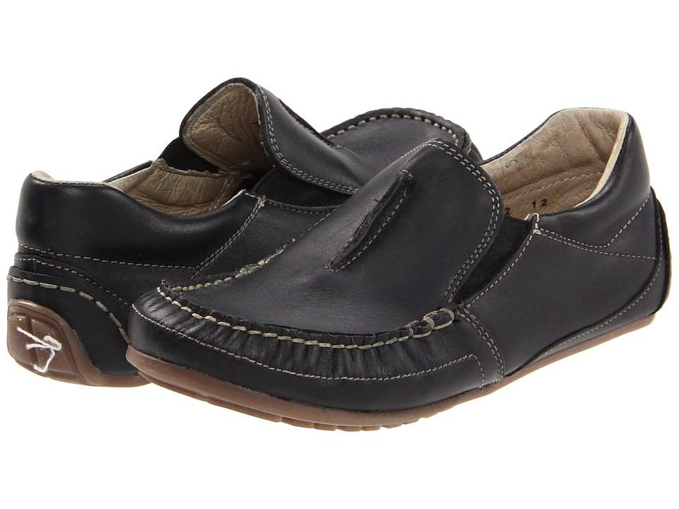 Kid Express - Colton (Toddler/Little Kid) (Black Leather) Boys Shoes