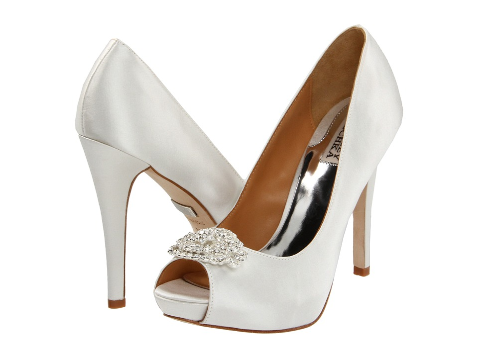 Badgley Mischka - Goodie (White Satin) High Heels