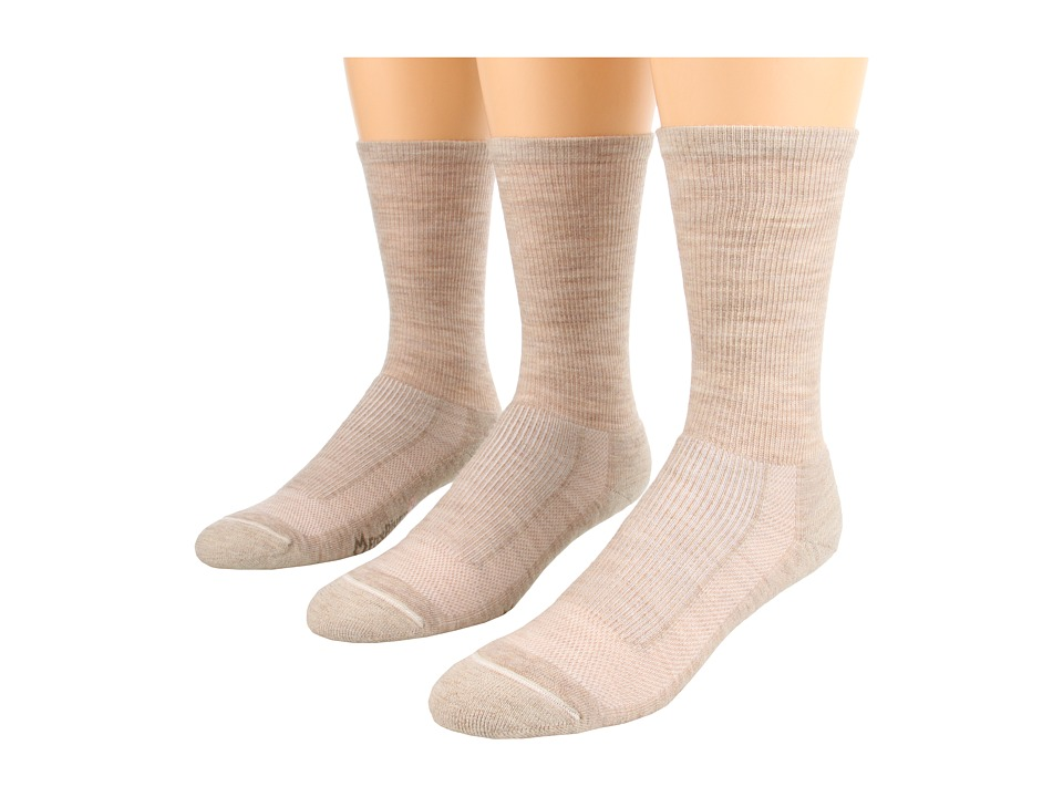 Fox River - Merino Hiking Crew 3-Pair Pack (Sand Heather) Women's Crew Cut Socks Shoes