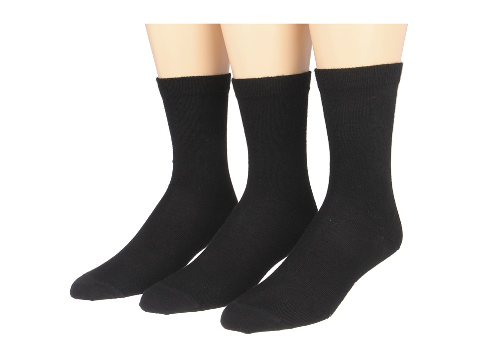 Fox River - Basic Crew Merino Wool Casual Sock 3 Pair Pack (Black) Women's Crew Cut Socks Shoes