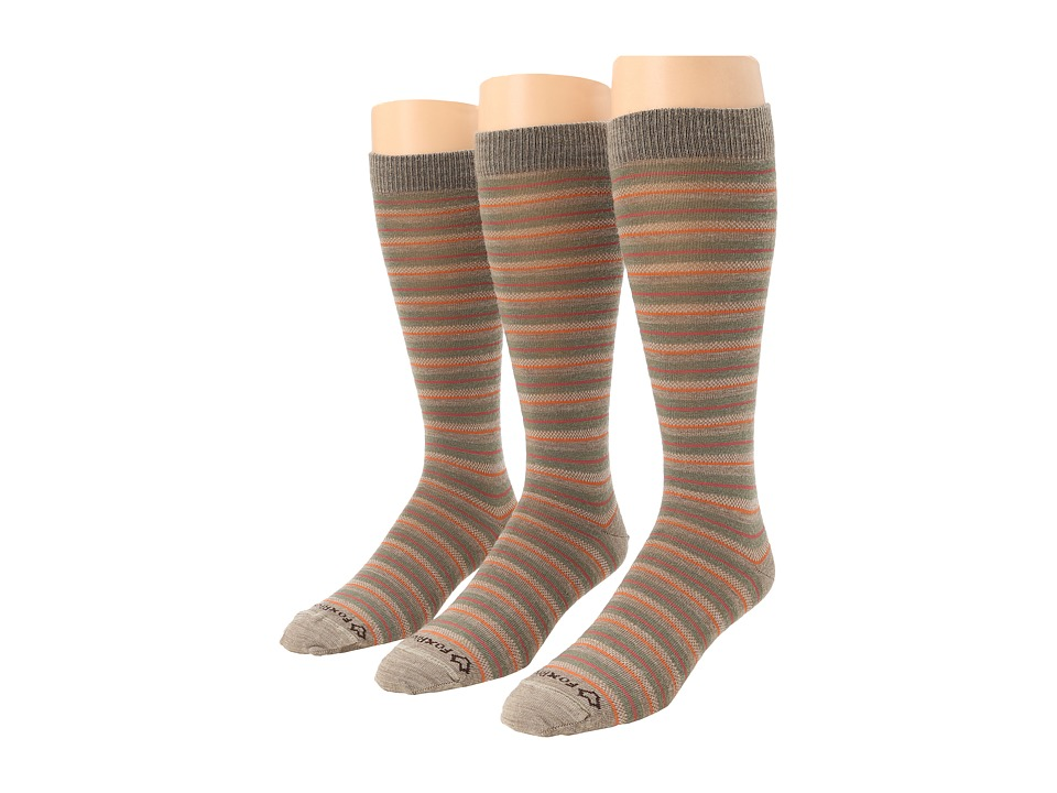 Fox River - Knee High Striper Merino Wool Casual Sock 3-Pair Pack (Taupe) Women's Knee High Socks Shoes