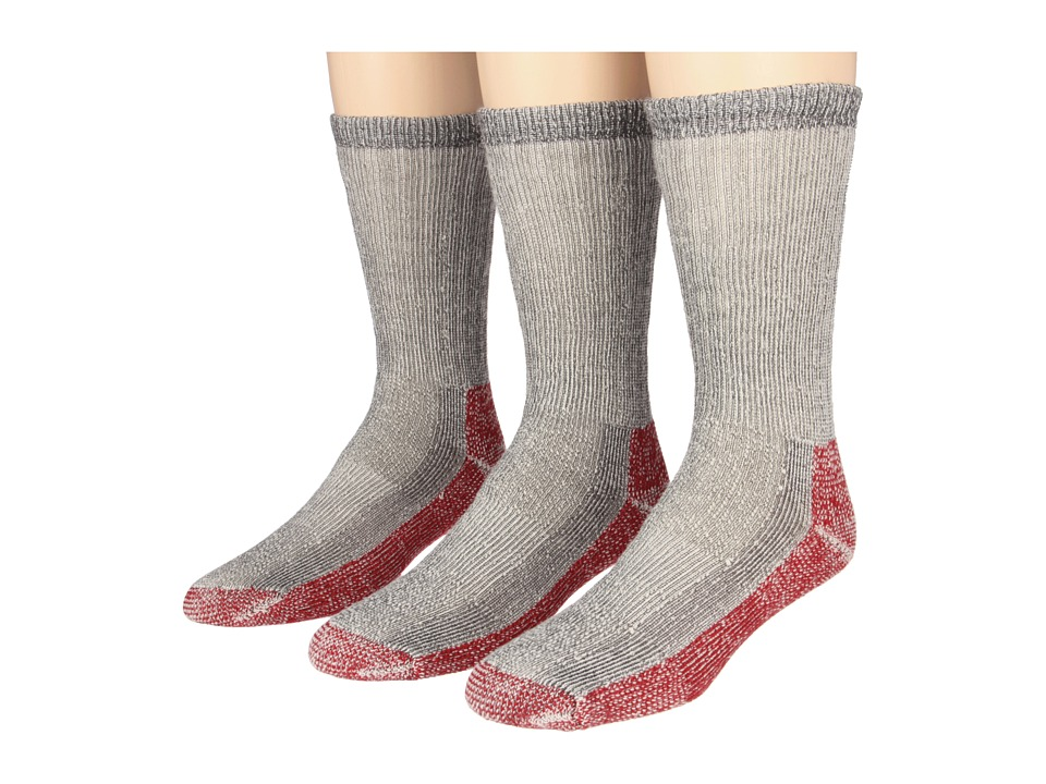 Fox River - Trailhead Merino Crew Heavyweight Hiker 3 Pair Pack (Charcoal) Men's Crew Cut Socks Shoes