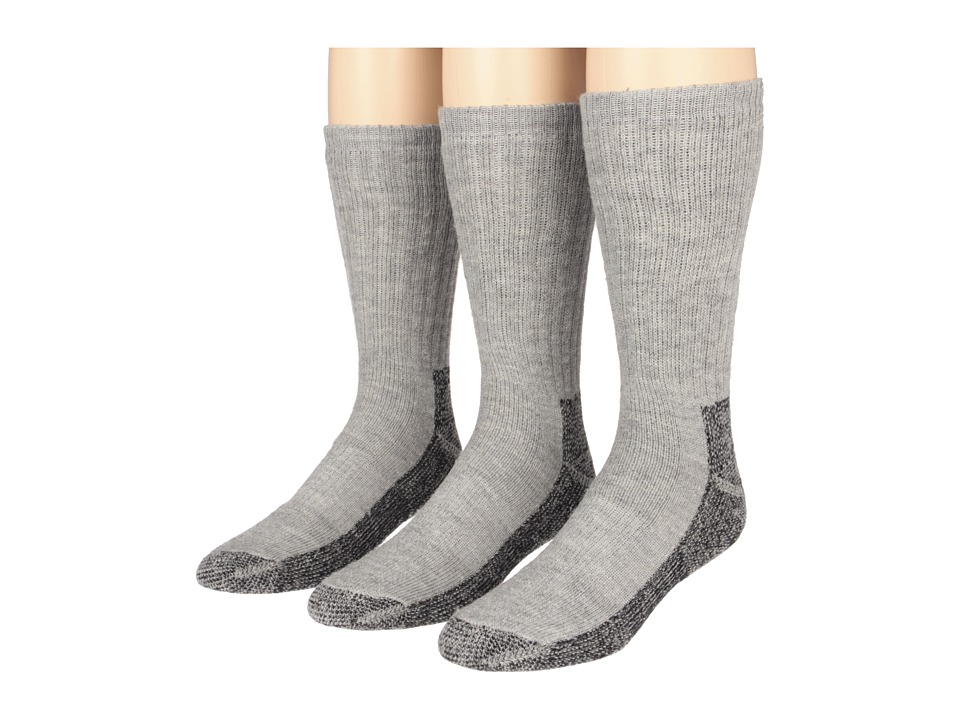 Fox River - Trailhead Merino Crew Heavyweight Hiker 3 Pair Pack (Grey Heather) Men's Crew Cut Socks Shoes