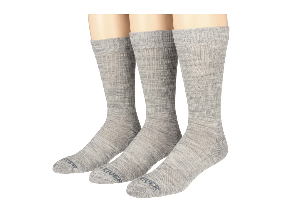 Fox River - Trouser Lightweight Merino Casual Sock 3 Pair Pack (Grey) Men's Crew Cut Socks Shoes