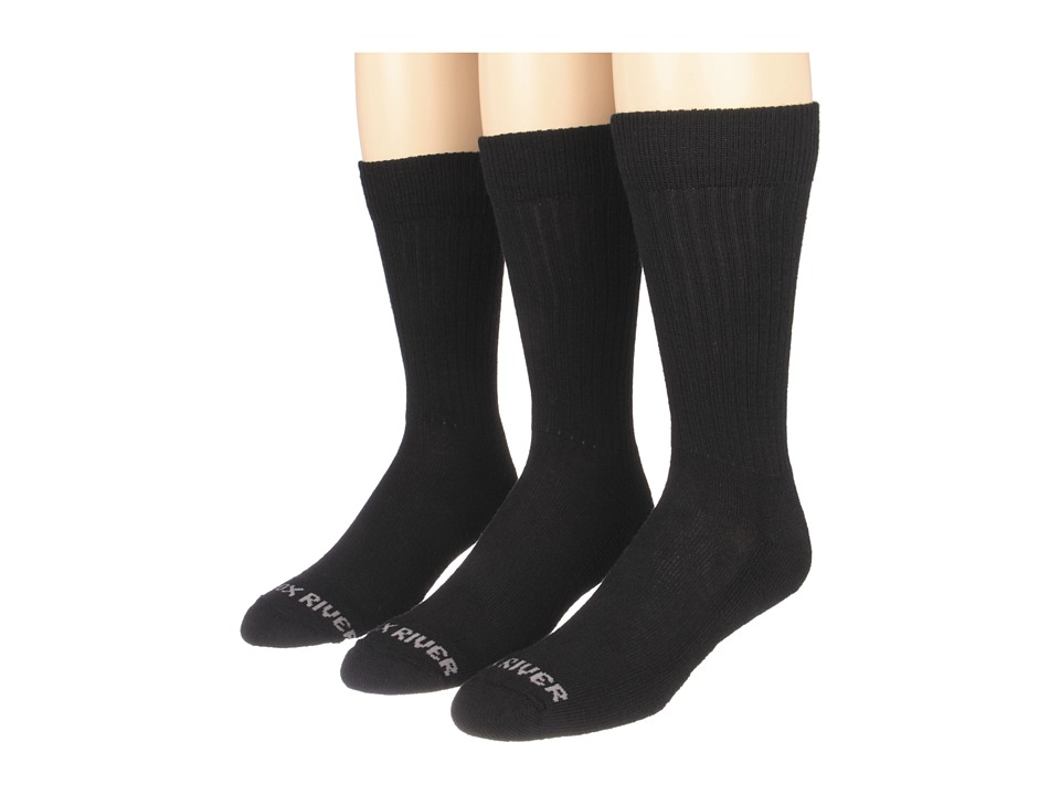 Fox River - Trouser Lightweight Merino Casual Sock 3 Pair Pack (Black) Men's Crew Cut Socks Shoes