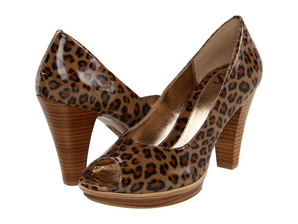 Sofft - Ramona II (Beige Leopard Patent) Women's Dress Sandals