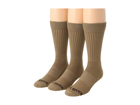 Fox River - Trouser Lightweight Merino Casual Sock 3 Pair Pack (Tan) Men's Crew Cut Socks Shoes
