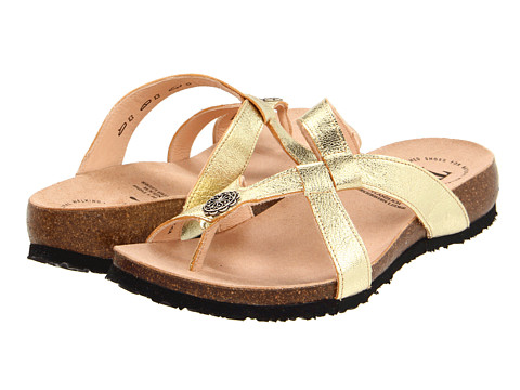 Think! - Julia Stone Thong - 88333 (Gold) Women's Sandals