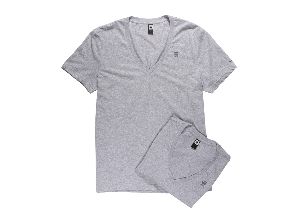 G-Star - Base Heather V-Neck Tee 2-Pack (Grey Heather) Men's Short Sleeve Pullover