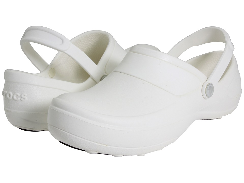 Crocs - Mercy Work (White/White) Women's Clog Shoes