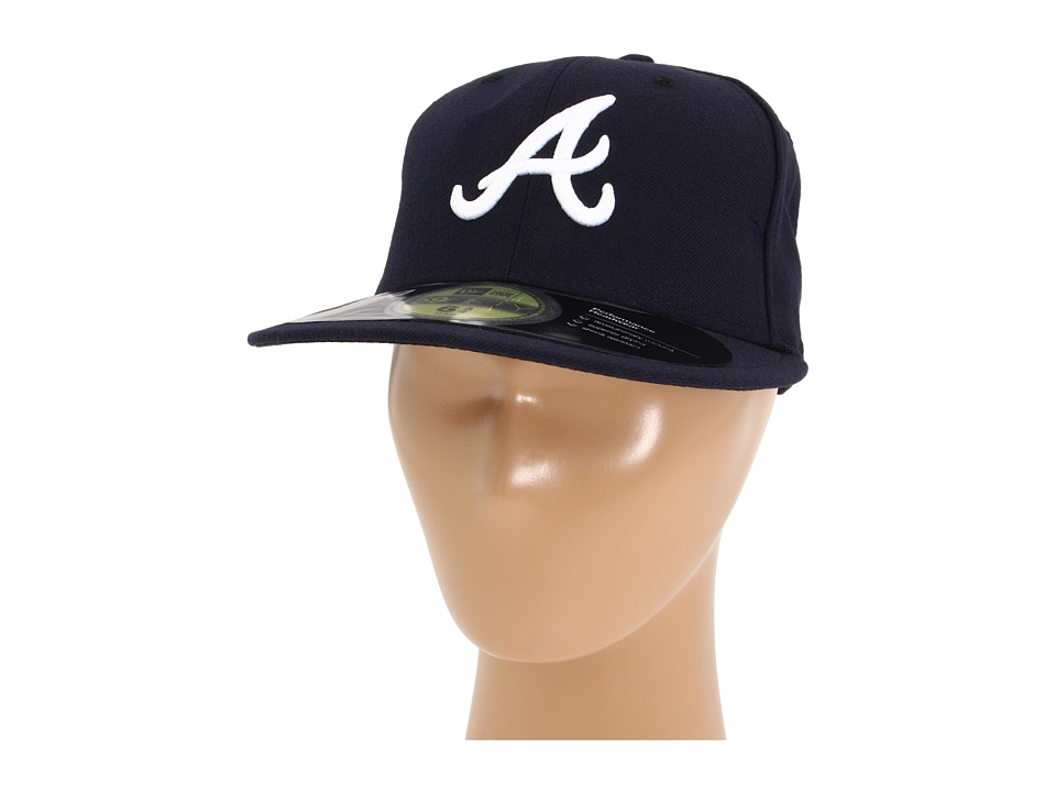 New Era - Authentic Collection 59FIFTY - Atlanta Braves (Road) Baseball Caps
