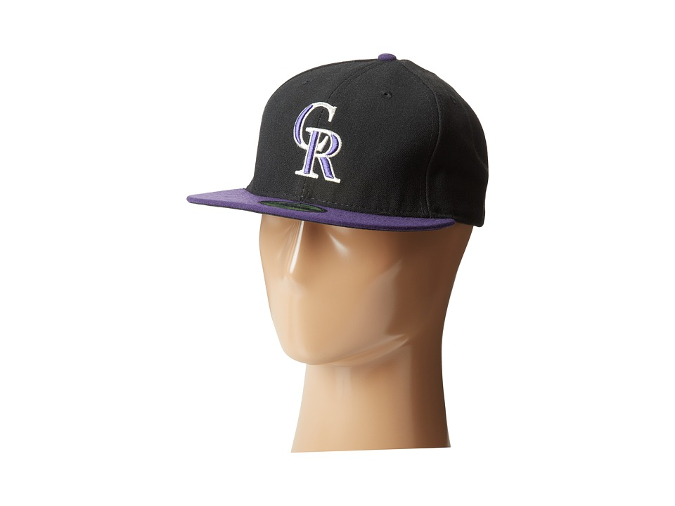New Era - Authentic Collection 59Fifty - Colorado Rockies (Black) Baseball Caps
