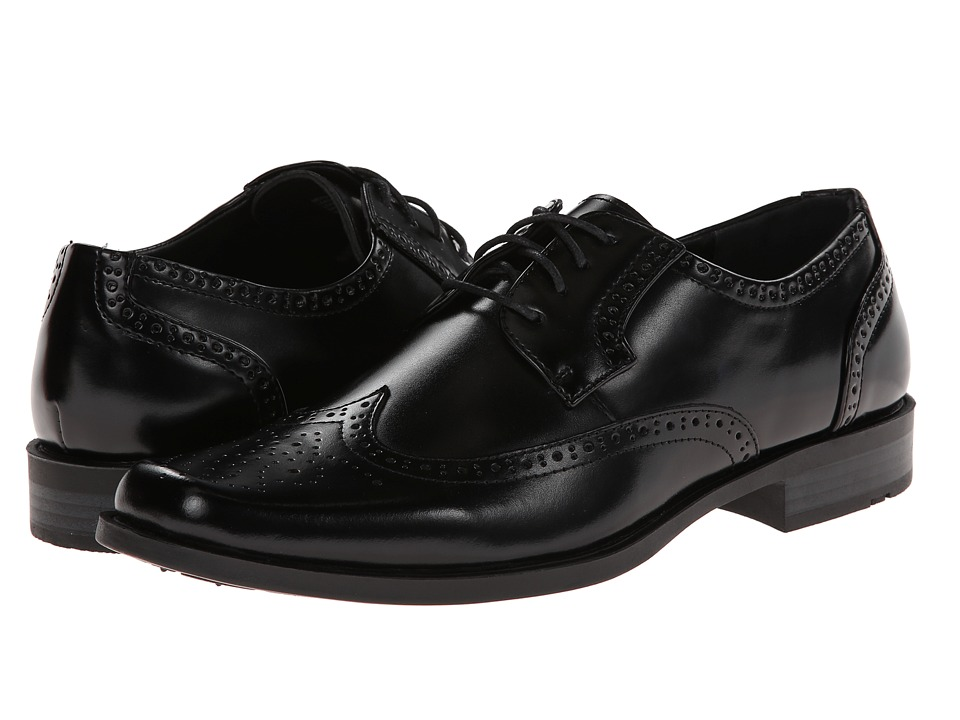 Stacy Adams - Carlyle (Black) Men's Lace Up Wing Tip Shoes