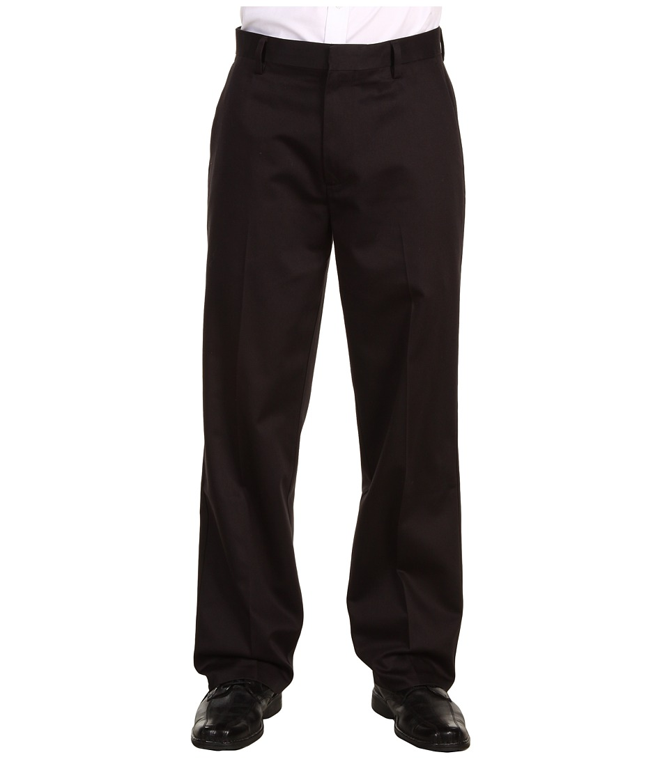 Dockers Men's - Never-Iron Essential Khaki D3 Classic Fit Flat Front Pant (Black) Men's Casual Pants
