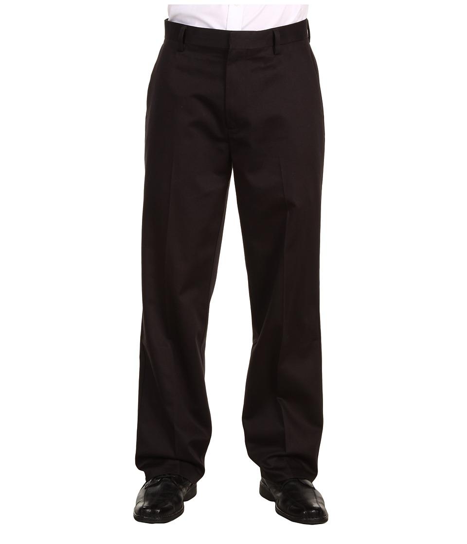Dockers Men's - Never-Iron Essential Khaki D3 Classic Fit Flat Front Pant (Black) Men's Casual Pants