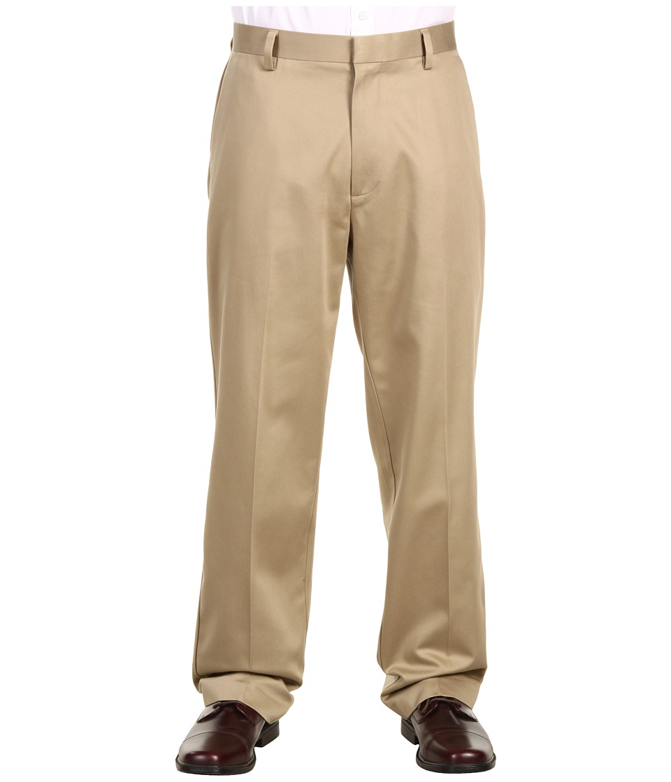 Dockers Men's - Never-Iron Essential Khaki D3 Classic Fit Flat Front Pant (British Khaki) Men's Casual Pants