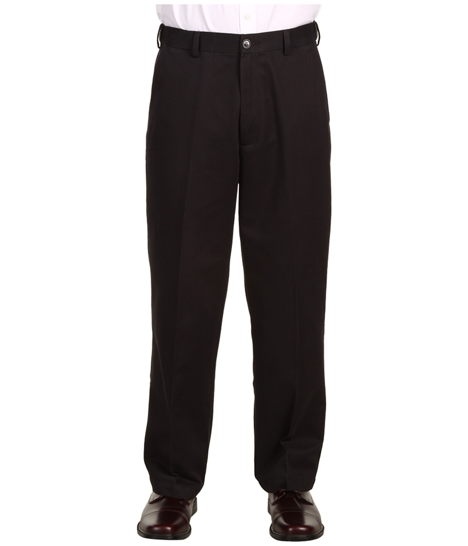 Dockers Men's - Comfort Waist Khaki D3 Classic Fit Flat Front (Black) Men's Casual Pants