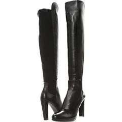 Stuart Weitzman Highline Swoon Row (Black Nappa) Footwear