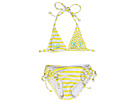 Roxy Kids - Roxy Shoreline Double Tiki Tri Set (Toddler/Little Kids) (Sunglow Yellow) - Apparel