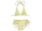 Roxy Kids - Roxy Shoreline Double Tiki Tri Set (Toddler/Little Kids) (Sunglow Yellow) - Apparel