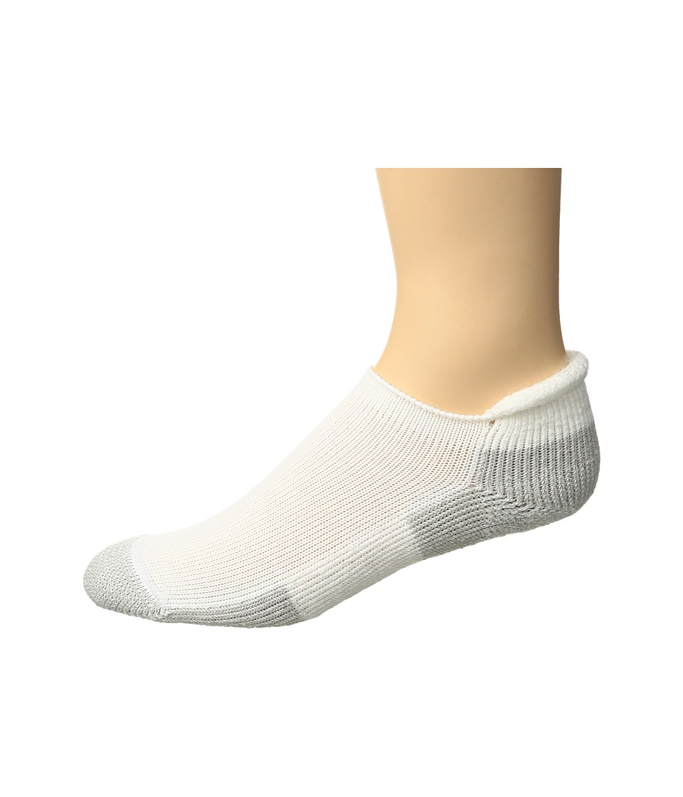 Thorlos - Thorlo Running Roll Top Single Pair (White) Crew Cut Socks Shoes