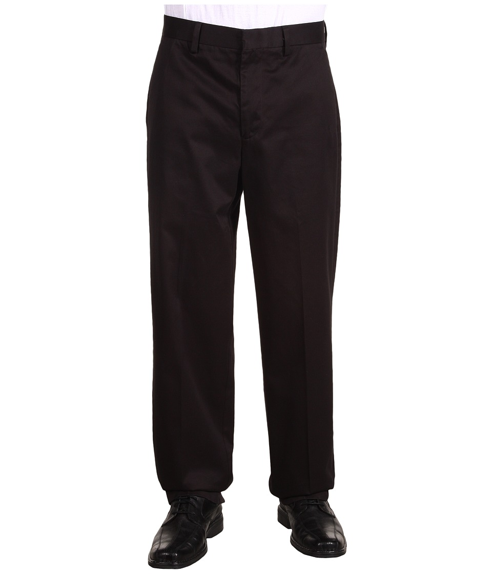 Dockers Men's - Signature Khaki D4 Relaxed Fit Flat Front (Black) Men's Dress Pants