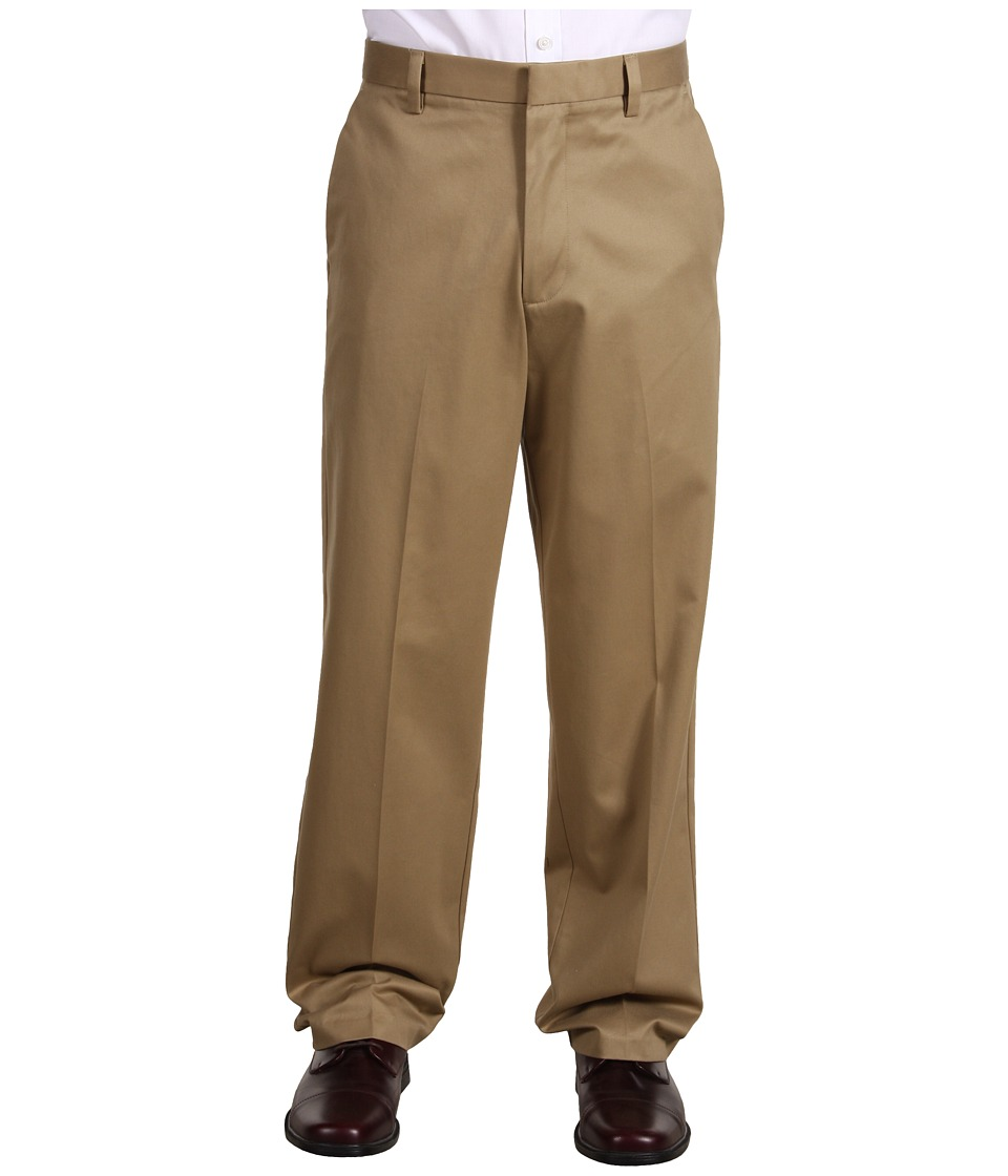 Dockers Men's - Signature Khaki D4 Relaxed Fit Flat Front (Dark Khaki) Men's Dress Pants