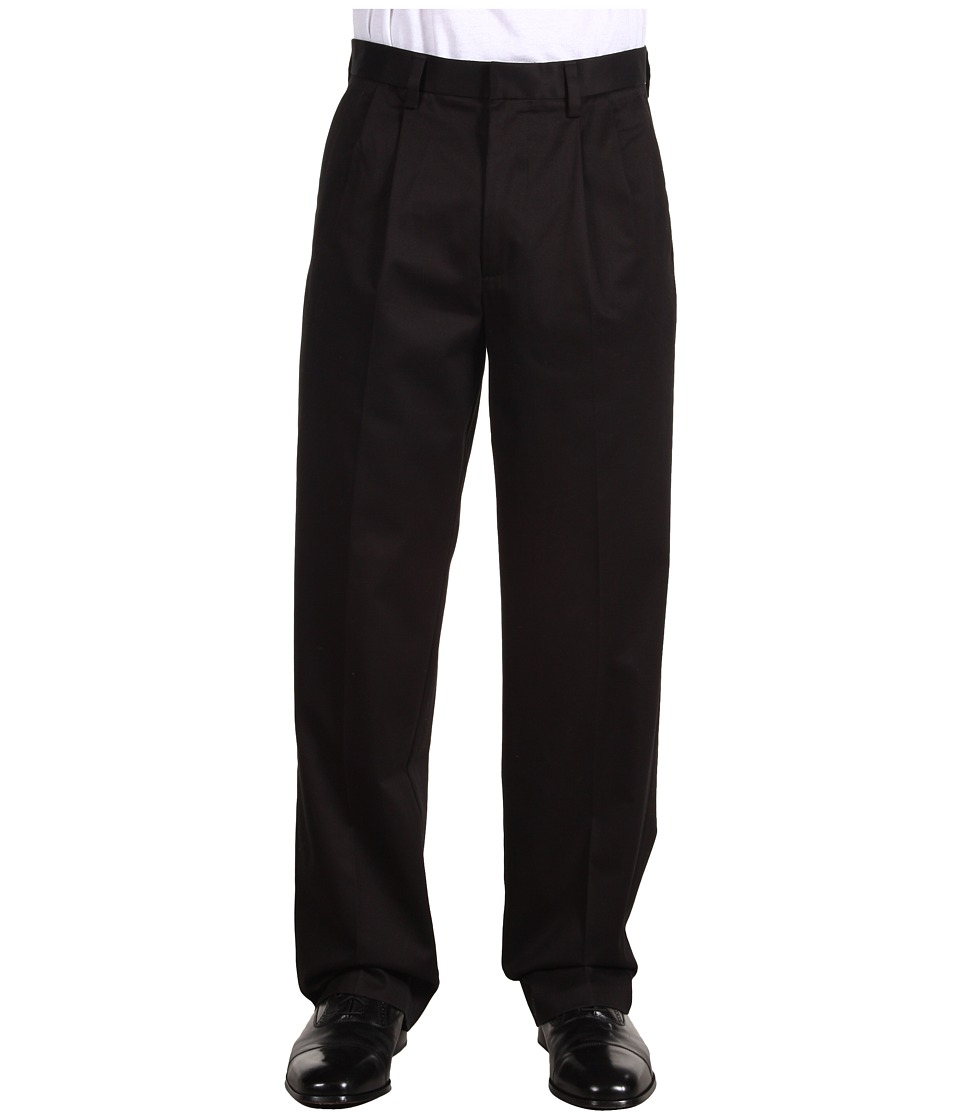 Dockers Men's - Signature Khaki D4 Relaxed Fit Pleated (Black) Men's Casual Pants