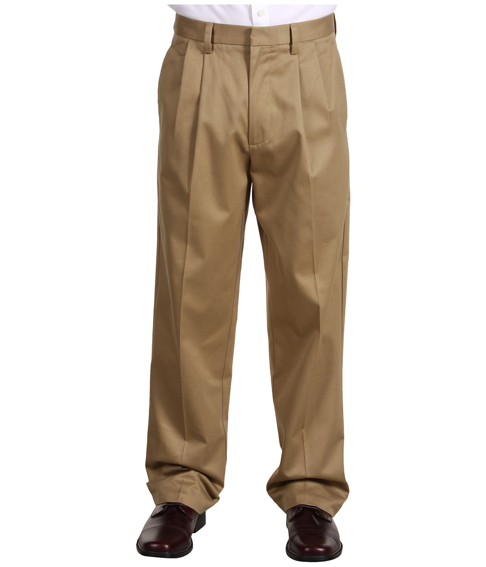 Dockers Men's - Signature Khaki D4 Relaxed Fit Pleated (Dark Khaki) Men's Casual Pants