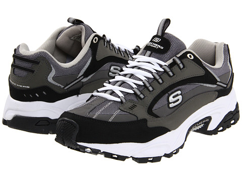 SKECHERS - Stamina - Nuovo (Charcoal/Black) Men's Shoes