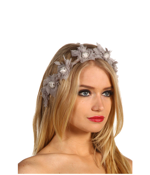 Jane Tran - Chiffon Flower Garland Headband (Grey) Hair Accessories