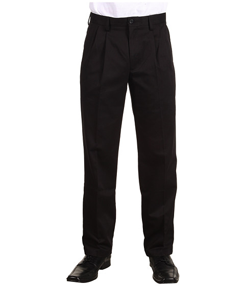 Dockers Men's - Easy Khaki D3 Classic Fit Pleated Pant (Black) Men's Casual Pants