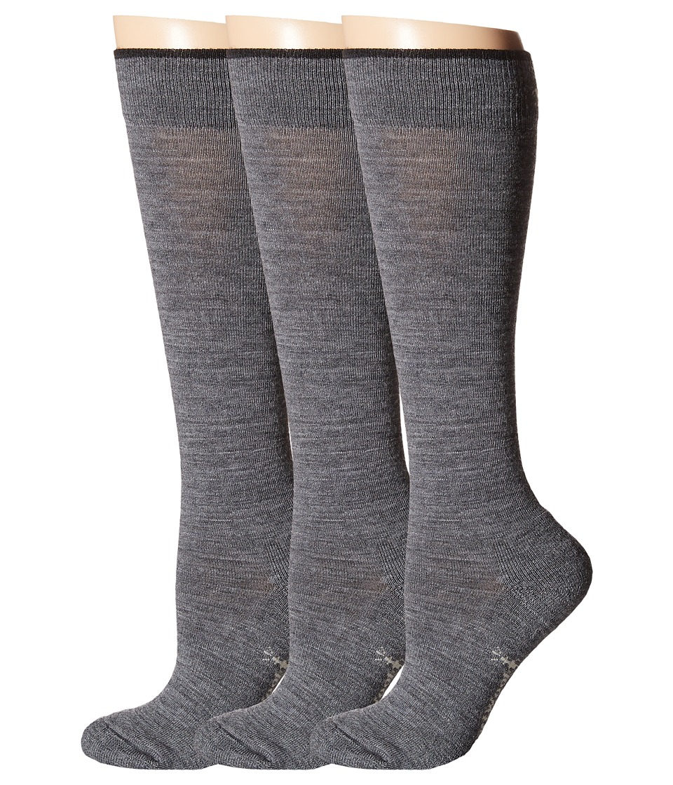 Smartwool - Basic Knee High 3-Pack (Medium Gray) Women