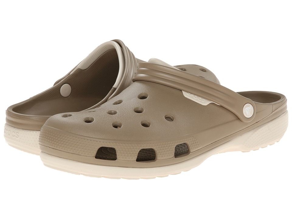 Crocs - Duet (Khaki/Stucco) Clog Shoes