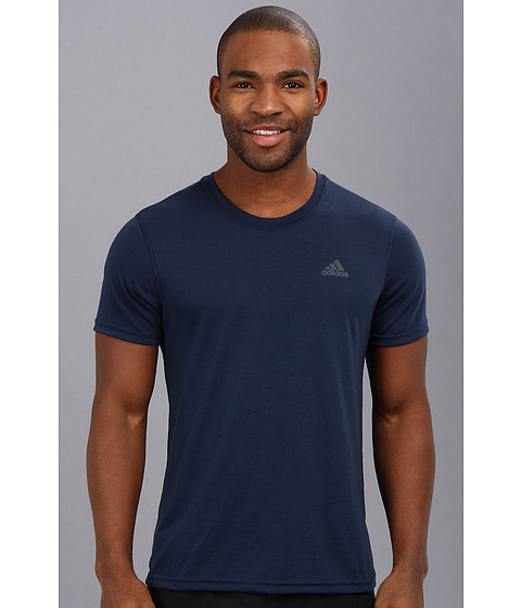 adidas - CLIMA Ultimate Tee (Collegiate Navy/Dark Shale) Men