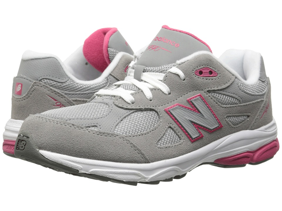New Balance Kids - KJ990G (Big Kid) (Grey/Pink) Girls Shoes